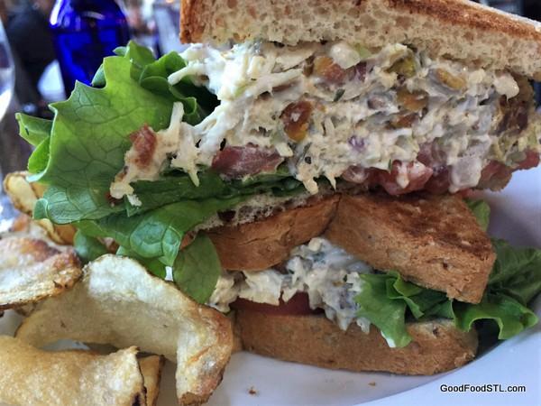 SqWires Restaurant chicken salad sandwich
