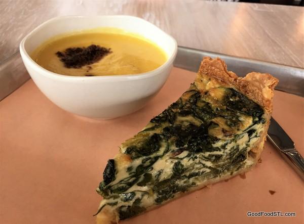 Vicia restaurant soup and quiche