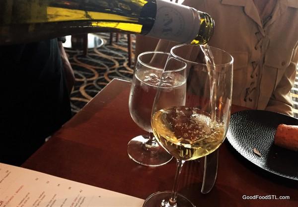 Chardonnay at Cielo Restaurant