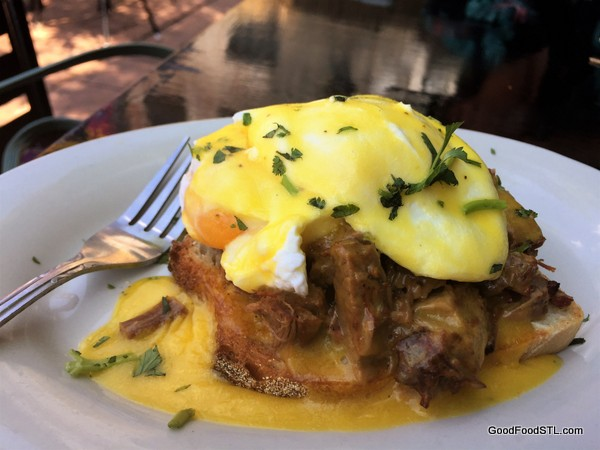 Eggs Benedict at Atomic Cowboy in St. Louis
