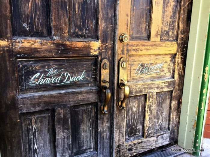The Shaved Duck doorway