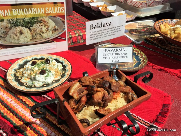 Bulgarian food from the St. Louis International Festival of Nations