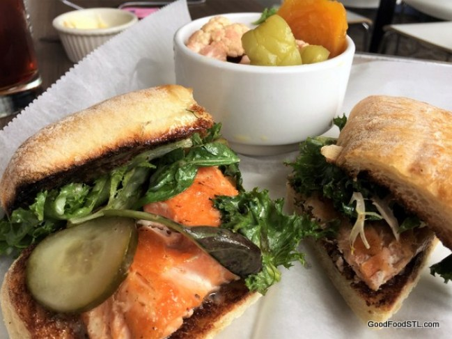 Grilled Salmon Sandwich, Turn Restaurant