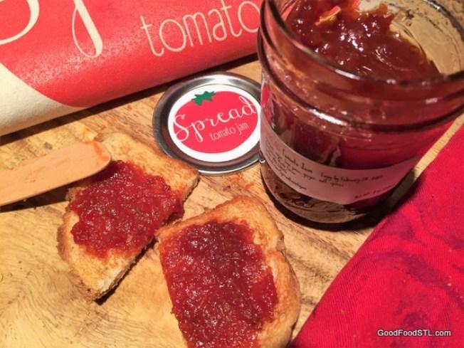 spread tomato jam