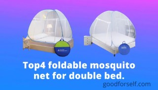 Top4 foldable mosquito net for double bed.