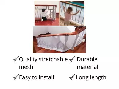 Safe-O-Kid Strong Mesh Safety Net For Child