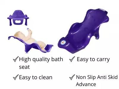 Sunbaby Anti Slip Big Plastic Bath Chair Seat Sling with Non Slip Strong