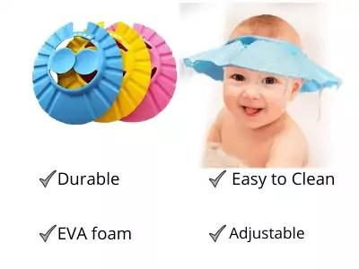 eAmaze Adjustable Safe Soft Bathing Baby Shower Hair Wash Cap