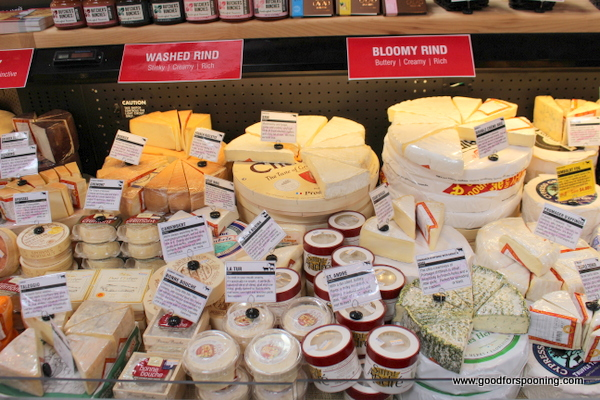 Note the labels in red guiding you to the styles and flavor profiles of the cheeses.