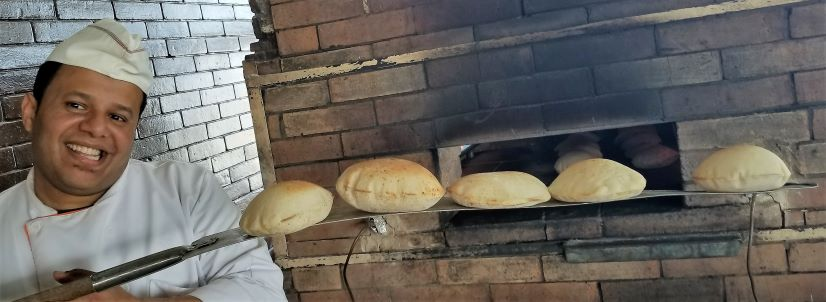 Even small restos make their own bread in Egypt