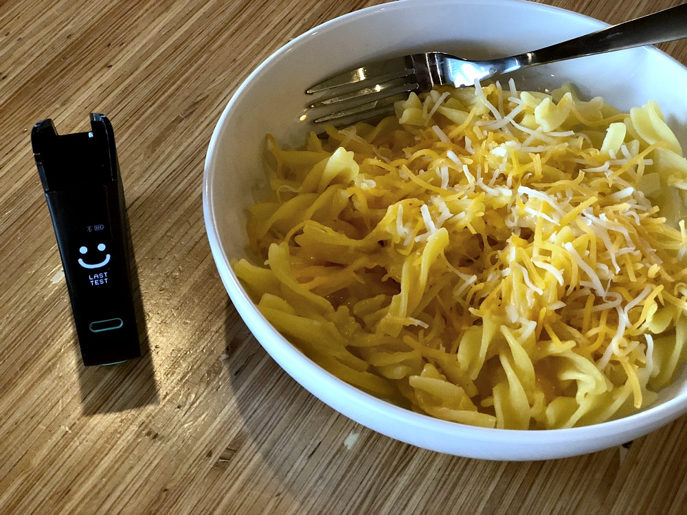 Gluten-Free at Noodles and Company - Gluten Free Mac n Cheese Nima Sensor tested