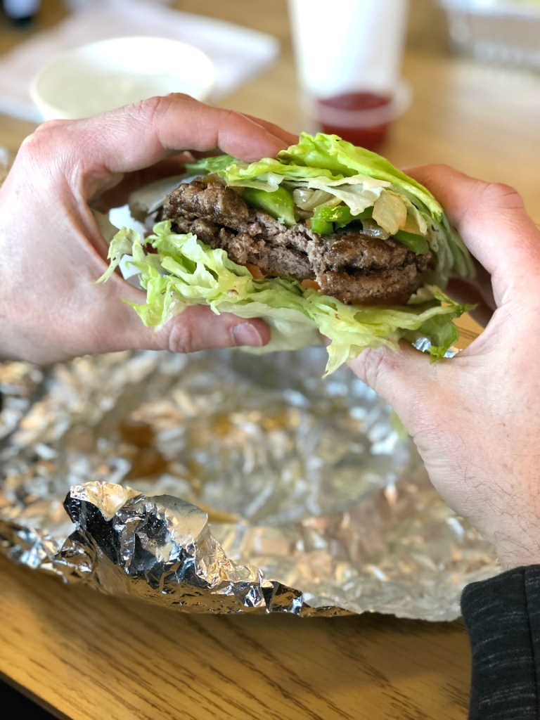 Five Guys Gluten-Free - Lettuce wrapped burger