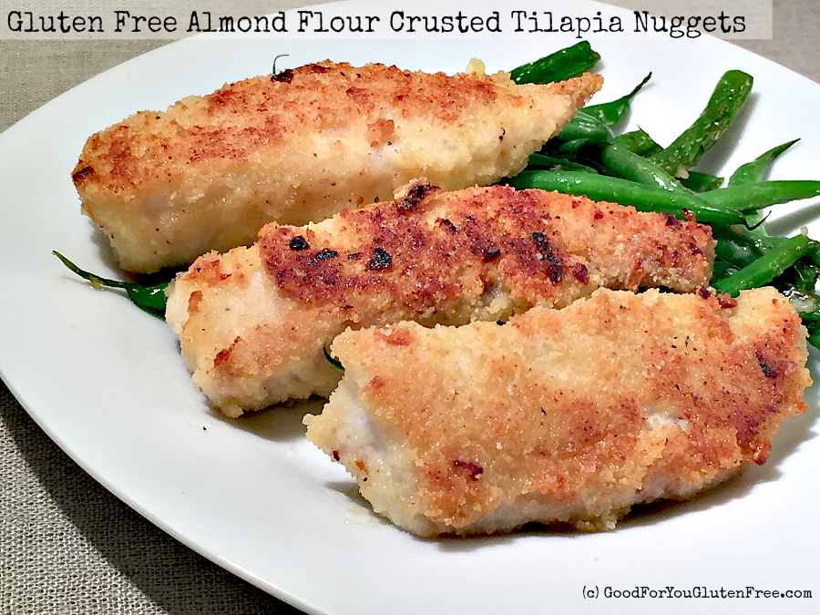 Gluten-Free Almond Flour Crusted Tilapia Nuggets