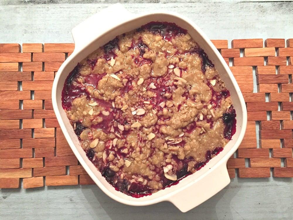 Gluten Free Mixed Berry Crisp Dessert Recipe