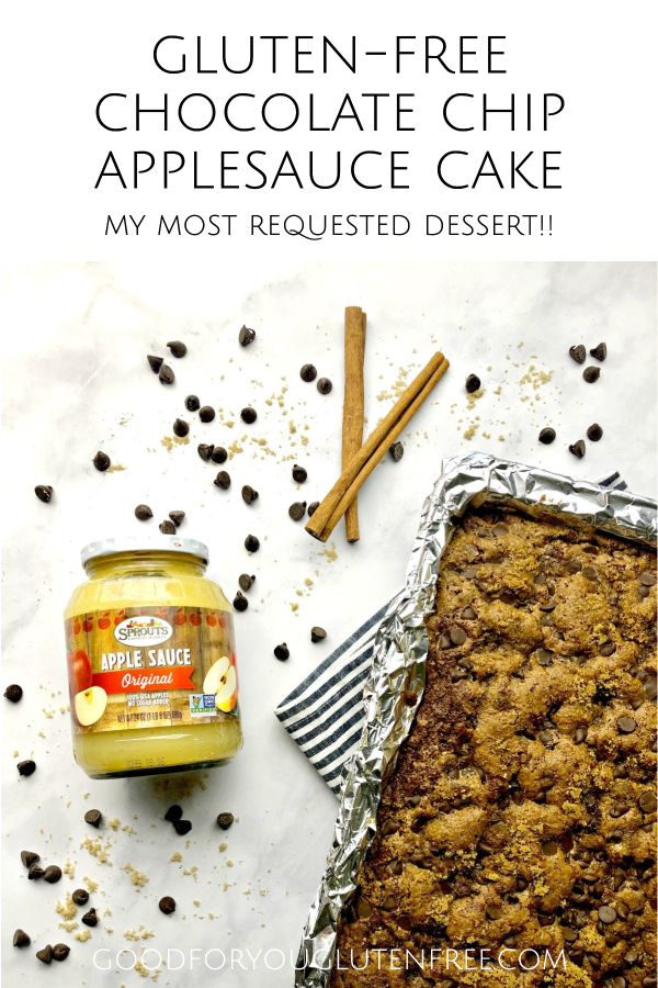 Gluten-Free Chocolate Chip Applesauce Cake Recipe - Good For You Gluten Free