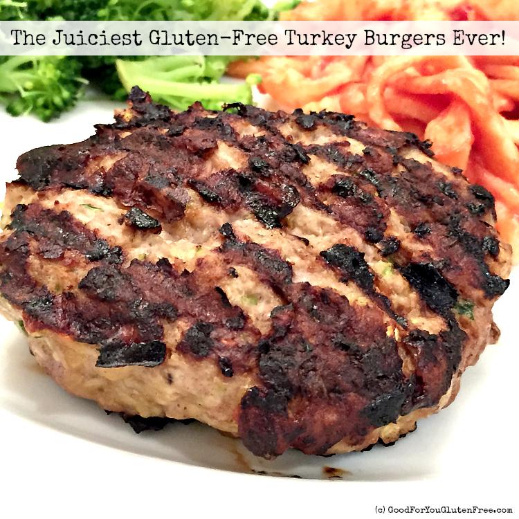Gluten-Free Turkey Burgers - juicy!
