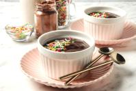 Microwave chocolate pudding header