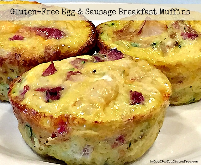 Breakfast Recipe: Gluten-Free Egg & Sausage Muffins