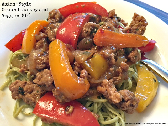 Asian Ground Turkey and Vegetable Stir Fry (Gluten-Free Recipe)
