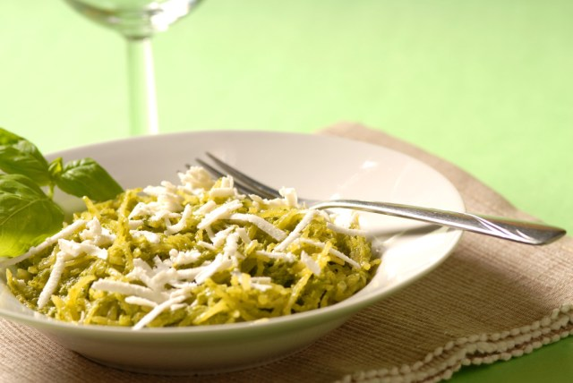 Spaghetti squash and pesto