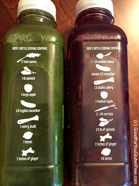 Trader Joe's juices - red and yellow ingredients