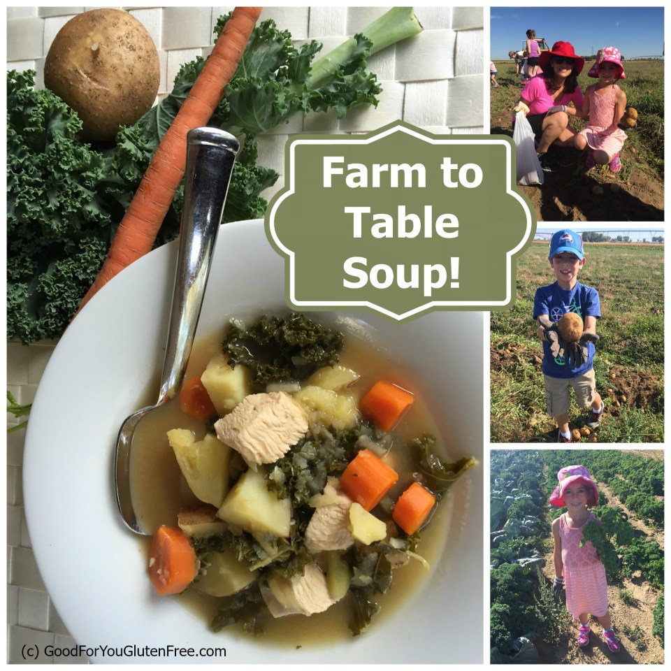 Miller Farm Soup collage - gluten free soup recipe