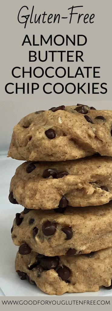 Gluten-Free Almond Butter Chocolate Chip Cookies - Good For You Gluten Free #cookierecipe #glutenfree #glutenfreecookies