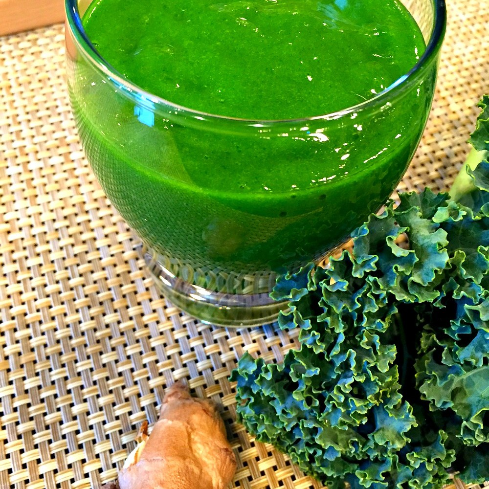 Jenny's Spicy Green Smoothie or Juice