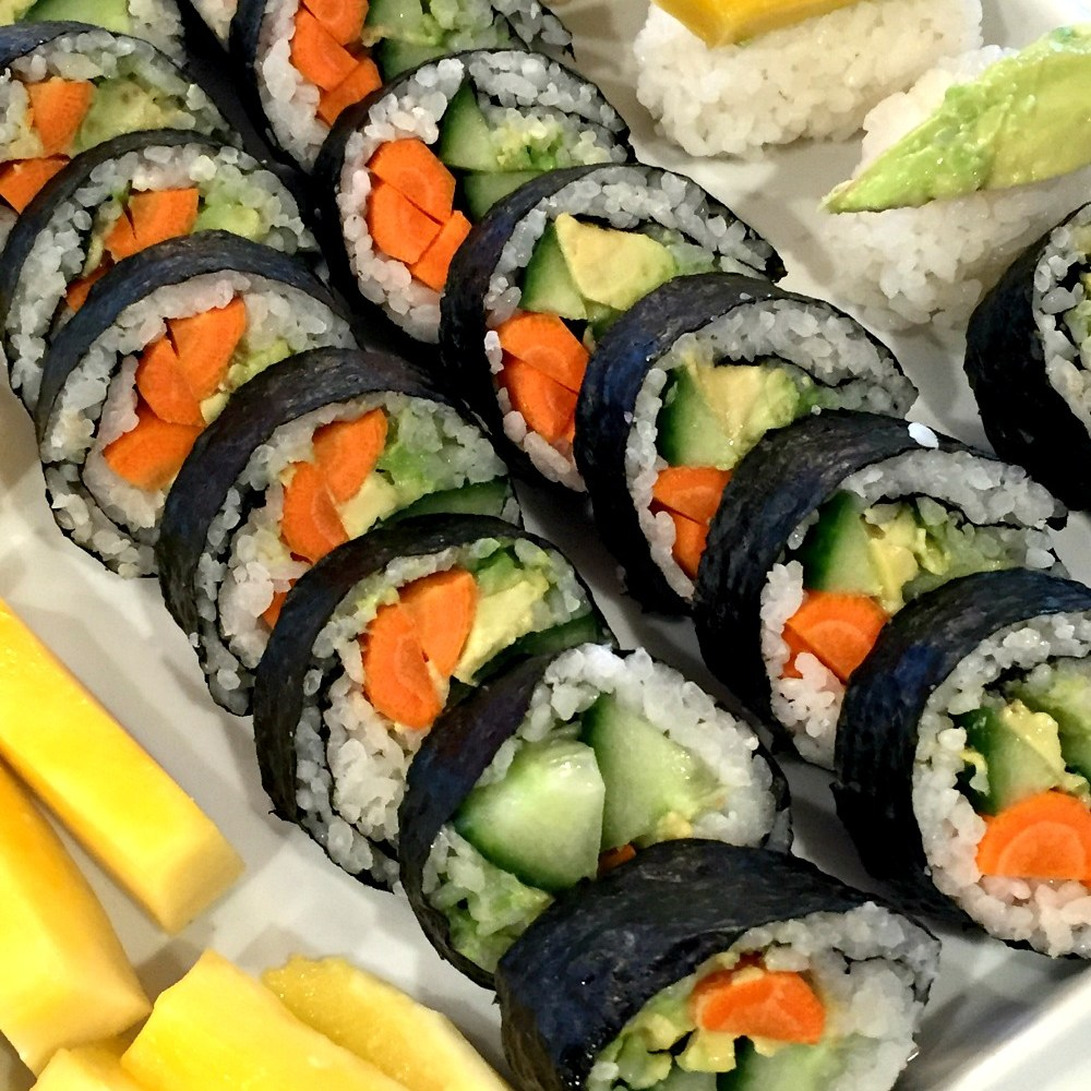 Try this Easy Gluten Free Appetizer:  Vegetarian Sushi Rolls