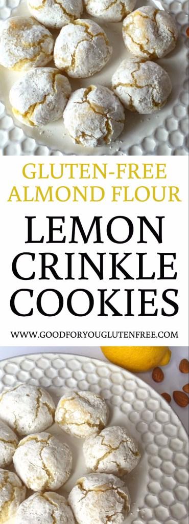 Gluten-Free Almond Flour Lemon Crinkle Cookies Recipe - Good For You Gluten Free