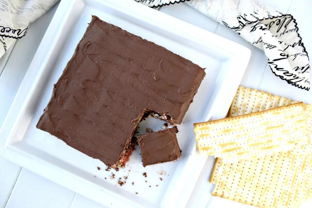 No-Bake Gluten-Free Chocolate Matzah Cake for Passover