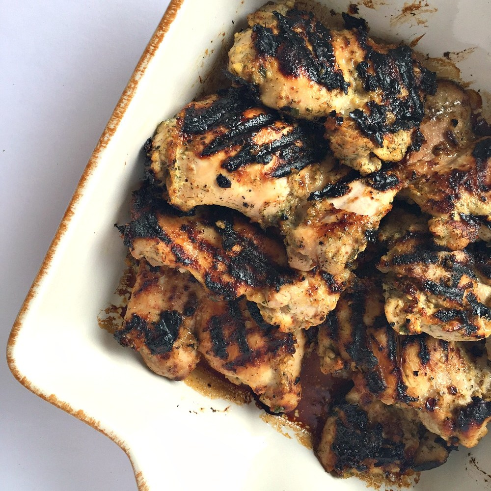 Delicious Grilled Gluten-Free Honey Dijon Chicken Thighs