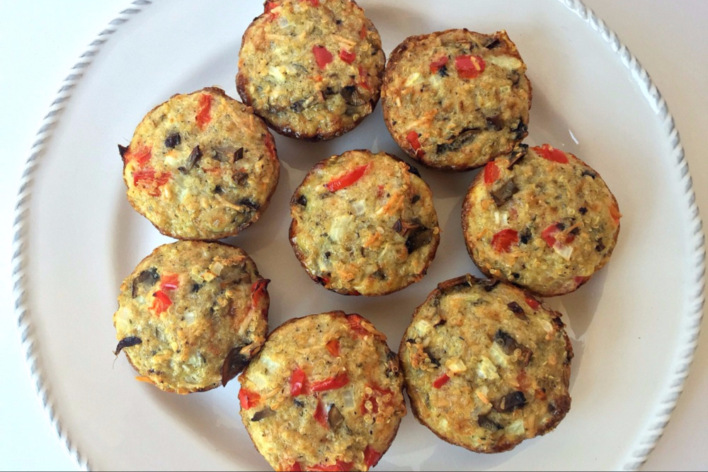Egg and Quinoa Breakfast Muffins - Header