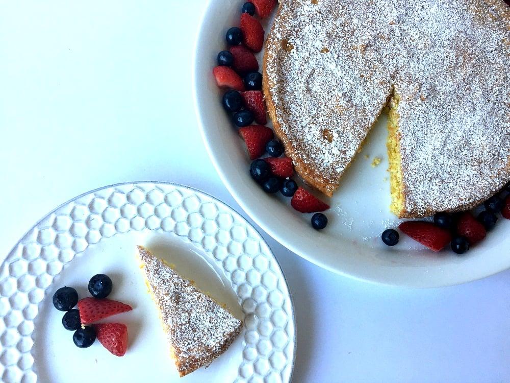 Gluten-Free Lemon Cake Dessert Featuring Almond Flour