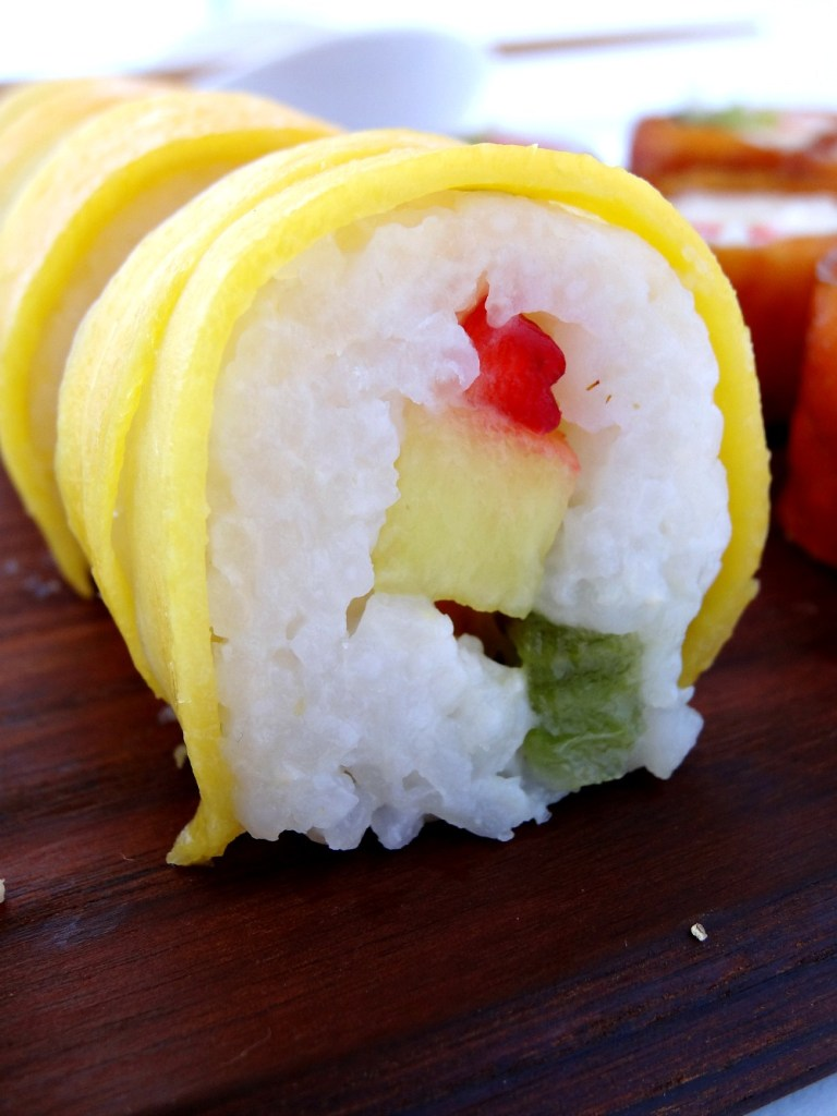 Fruit Sushi Mango Roll Upclose