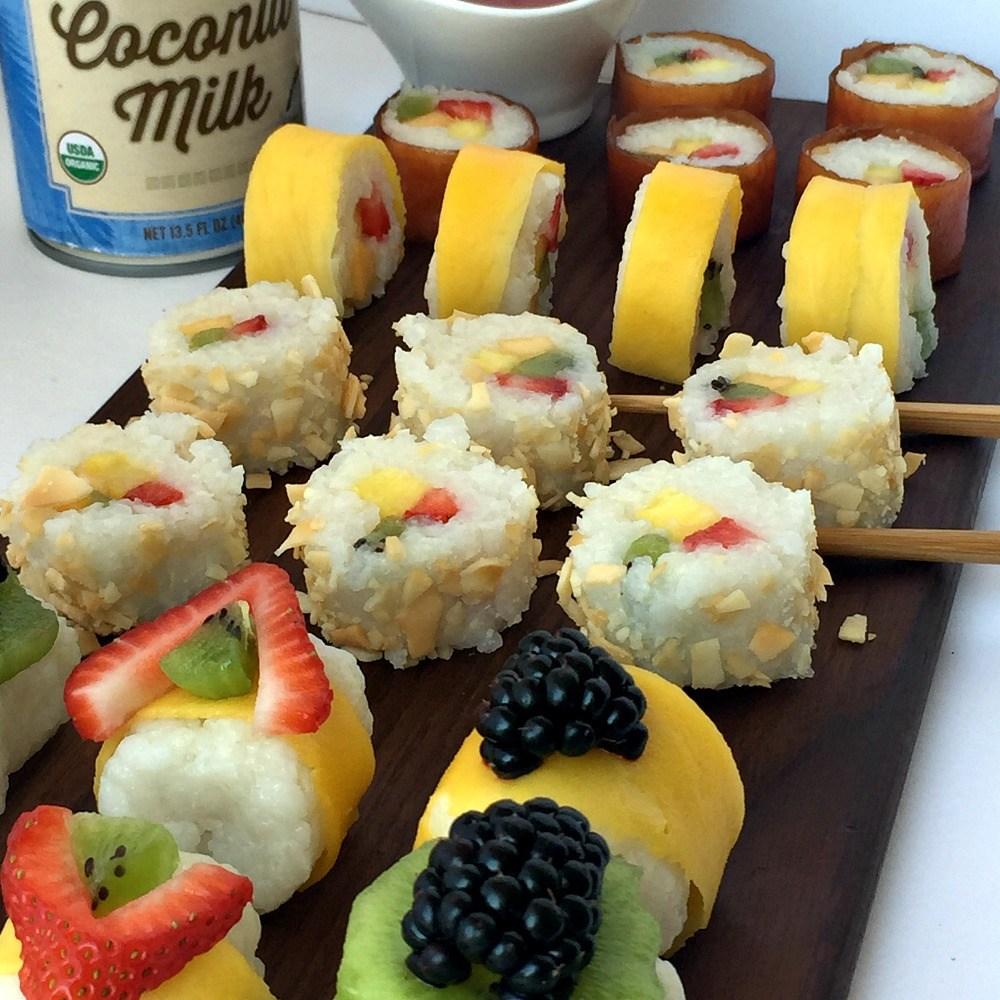 A Gluten-Free Fruit Sushi Rolls Adventure