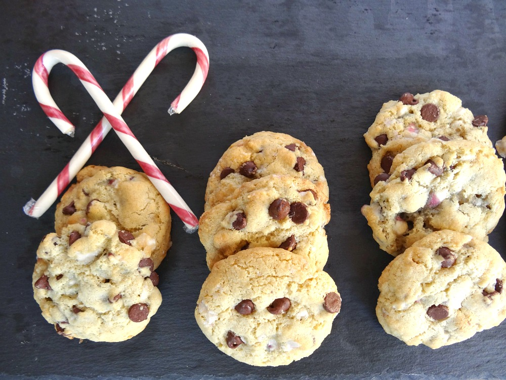 Gluten-Free Chocolate Chip Cookies with Peppermint Extract and Candy Canes 3