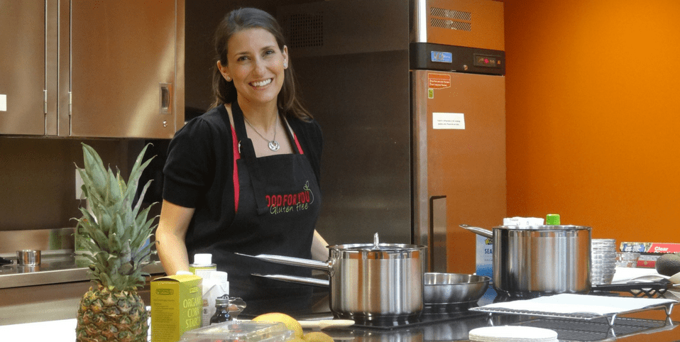 Jenny teaching cooking class at Natural Grocers