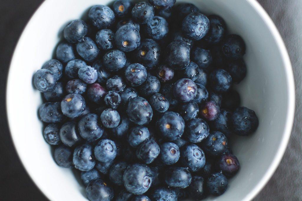 Blueberries - high fiber food