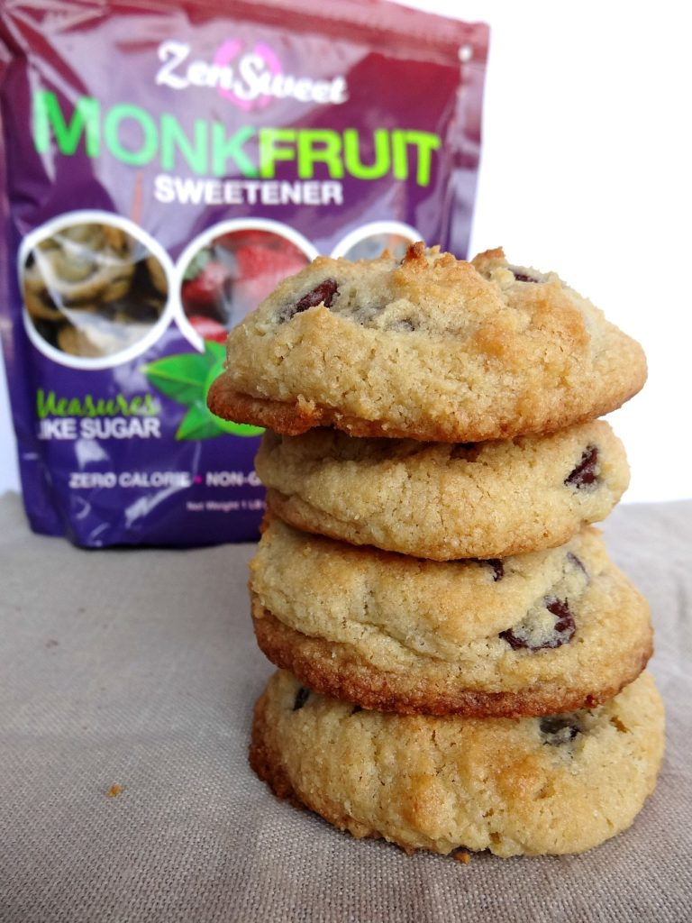 Monk Fruit Cookie - Gluten-Free Almond Flour Chocolate Chip Cookie