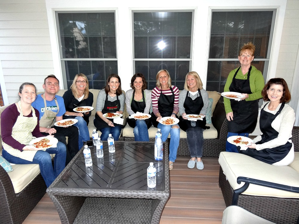 Gluten-Free Cooking Classes in Denver: Pasta class eating homemade pasta