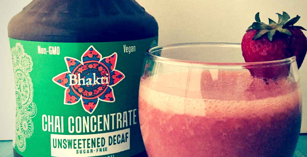 Refreshing Bhakti Chai Ginger-Infused Fruit Smoothie
