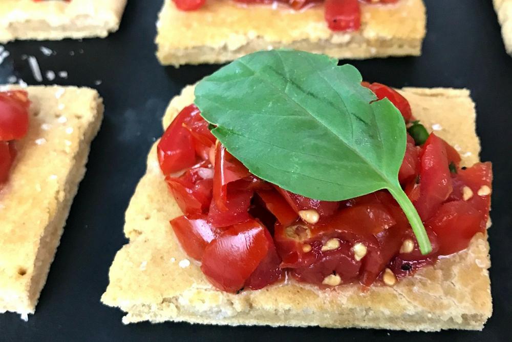 Gluten-Free Flatbread Bruschetta header