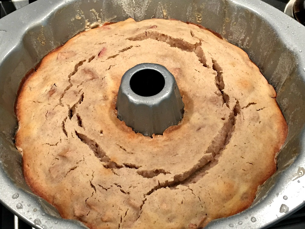Gluten-Free Apple Cake inside bundt pan