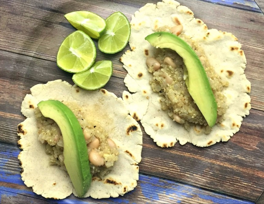 Quinoa and Bean Tacos with Lime Header