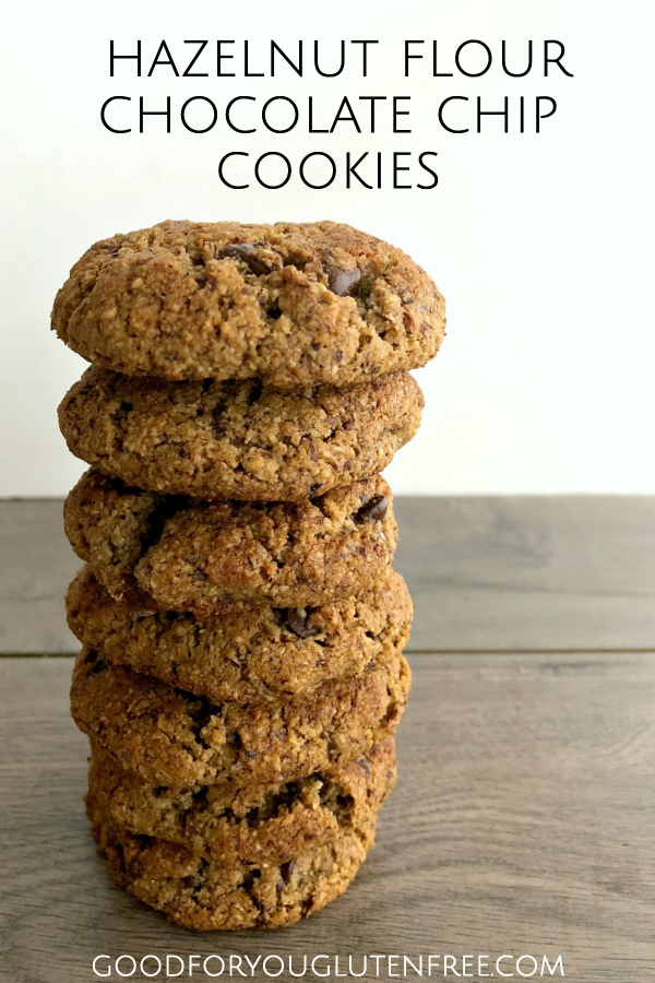 Hazelnut flour cookies with chocolate chips