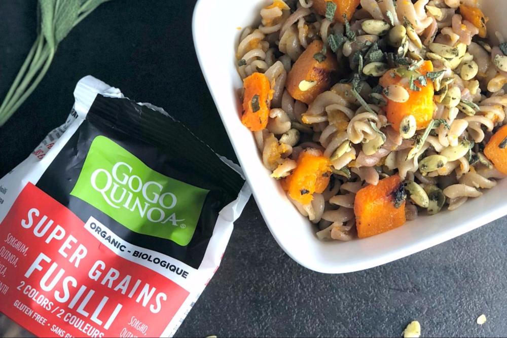 Butternut squash and sage gluten-free pasta recipe
