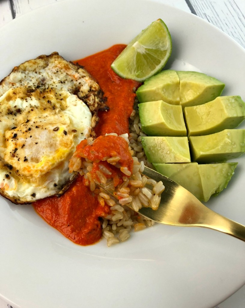 Roasted Red Pepper Breakfast Rice Bowl Recipe 6