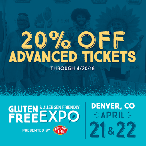 20 percent off Gluten-Free Expo Denver