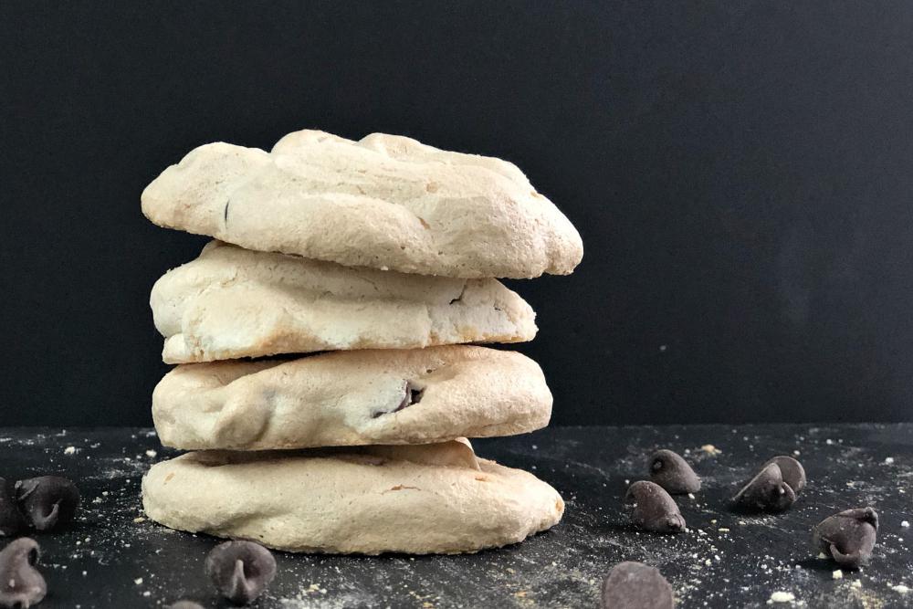 Chocolate Chip Meringue cookies heading